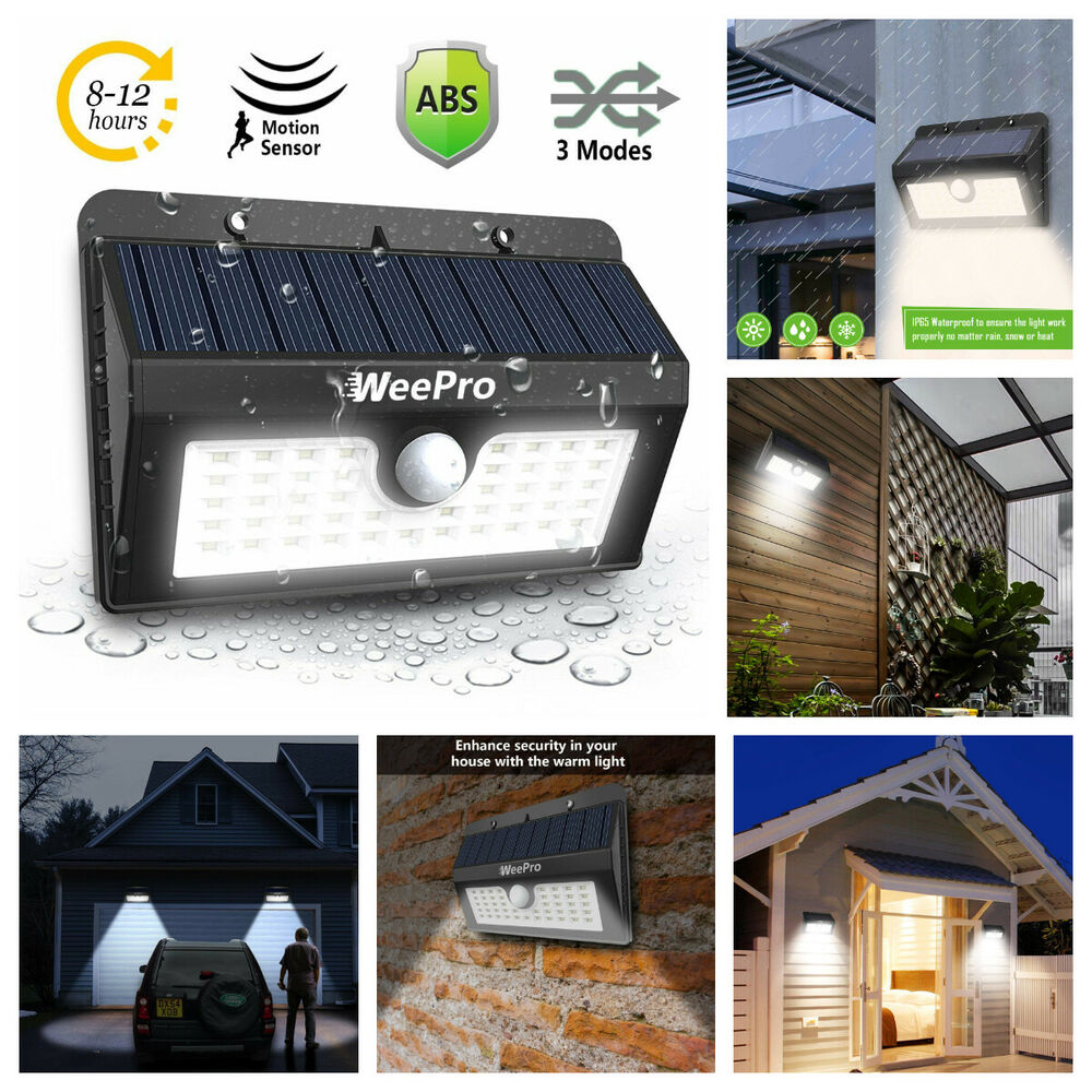 Outside Solar Lights Weepro Solar Lights Outdoor Motion Sensor Wall Light 45 Led