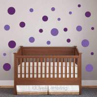 POLKA DOT wall decals, Circle wall decals, DOTS wall art