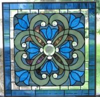 Krista Stained Glass Window Panel EBSQ Artist