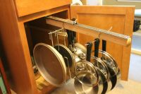 Legalized Pot Rack Pull Out Hanging Pot and Pan Lid Rack ...