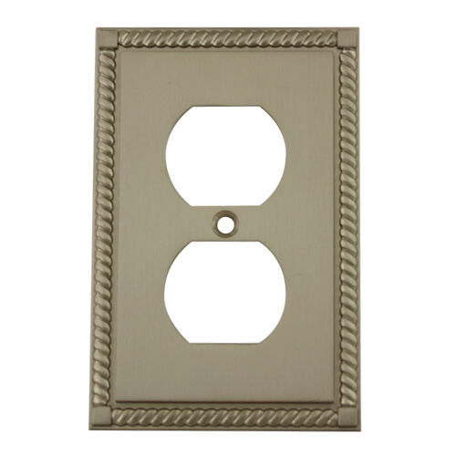 Decorative Outlet Covers Satin Nickel Single Duplex Outlet Decorative Wall