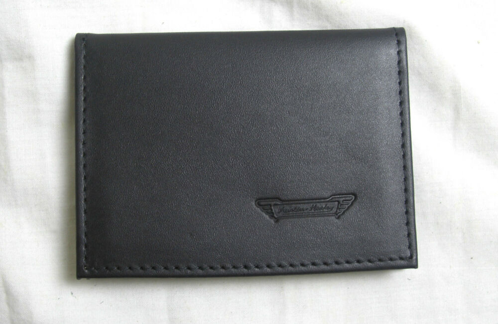 Austin Healey Logo Black Leather Credit Card Size Driving