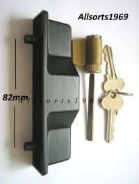 Sliding glass door lock outer pull handle with key ...