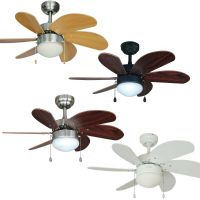 30 Inch Ceiling Fan with Light Kit - Satin Nickel, Oil ...