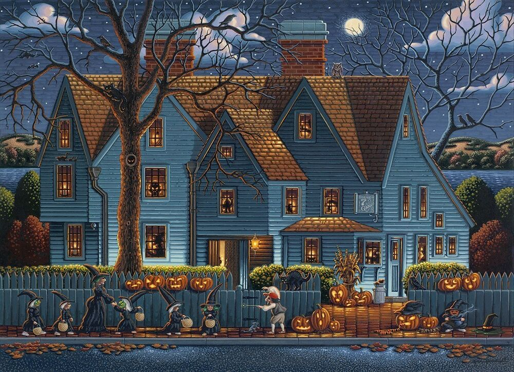 Fall Scenery Hd Wallpaper Dowdle Folk Art Collectors Jigsaw Puzzle House Of Seven