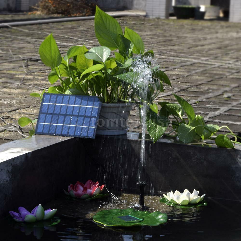 9v 18w Outdoor Garden Solar Powered Submersible Water