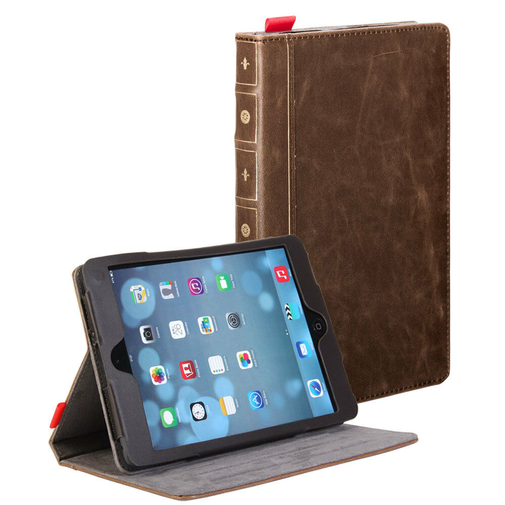 Ipad Mini Cover Brown Classic Crazy Horse Pattern Pu Leather Book Style