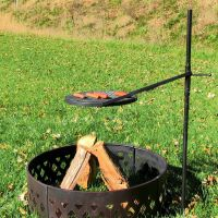 Height-Adjustable Rotating Outdoor Campfire Fire Pit ...