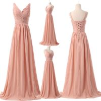 UK PLUS Long Chiffon Evening Party Gowns Formal Bridesmaid ...
