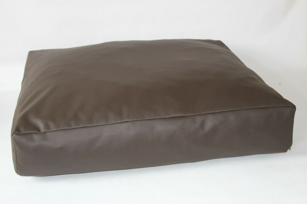 Dog Bed Faux Leather 8quot Deep Extra Large Removable