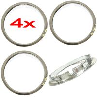 """4 Universal 15"""" inch CHROME Beauty Trim Rings for Steel ..."""
