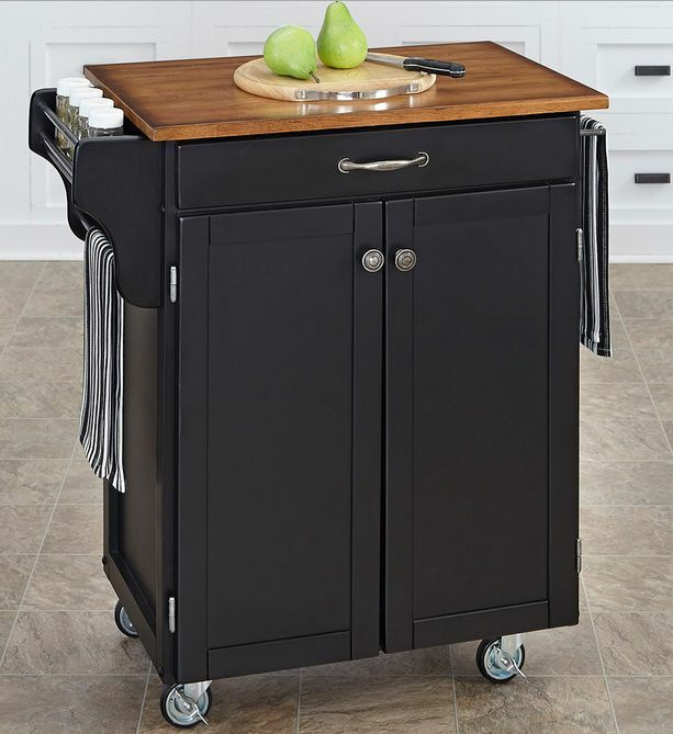 Wheeled Kitchen Islands Kitchen Island Rolling Storage Utility Cabinet Wood Top