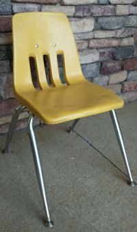 "15"" Virco Yellow Student School Chair Hard Plastic ..."