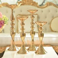 24'' Gold Wedding Floral Stand For Feather Ball Candle ...