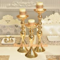 1 PC Wedding Flower Ball Feather Ball Stand Candle Holder ...