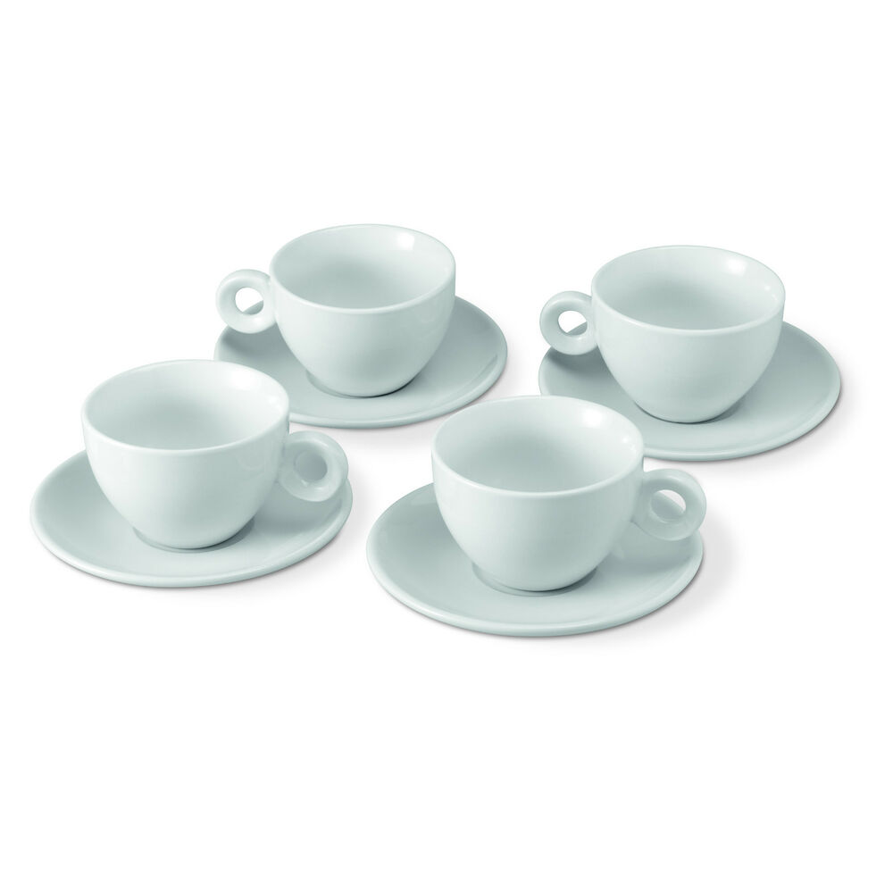 Tasse Ml Porcelain Cappuccino Cup 180ml Diam 9 5cm 8 Piece 4 Place Settings Coffee Cup 637801250657 Ebay