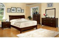 Midland Contemporary Brown Cherry Finish Bedroom Set Bed ...