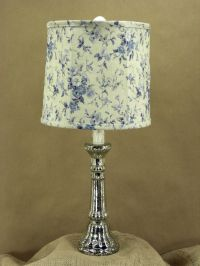 Silver Mercury Table Lamp and Shade | eBay