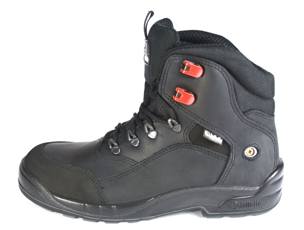 Jallatte S3 Triftane Mens Black Leather Lace Up Safety