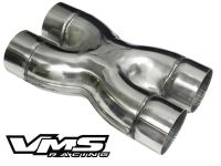 VMS UNIVERSAL STAINLESS STEEL EXHAUST CROSSOVER X PIPE 3 ...