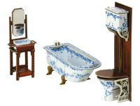 Furniture for Dolls BATHROOM Dollhouse Miniature Scale 1 ...