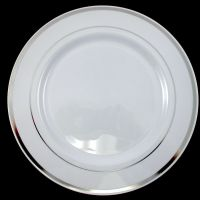 Dinner/Wedding/Party Disposable Plastic Plates white ...