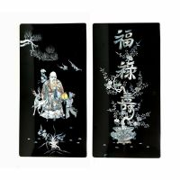 "Set of 31"" MOP Mother of Pearl Black Lacquer Wall Decor ..."