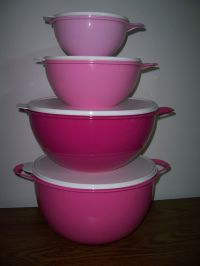 Tupperware Thatsa Bowl Mixing Bowls 4 PC. SET Mega, Jr ...
