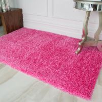 Girls Pink Bedroom Rug