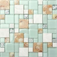 Kitchen Bath Mosaic Tile Glass Seashell Wall Backsplash ...