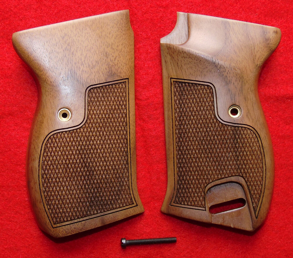 Walther Pistol New Walther P-38 P38 P-1 P1 Checkered Wood Pistol Grips