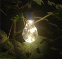 Hanging Ornamental Light Bulbs Solar Powered Outdoor ...