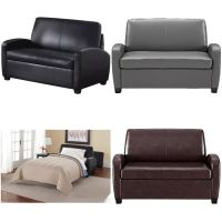 Sofa Sleeper Convertible Couch Loveseat leather bed ...