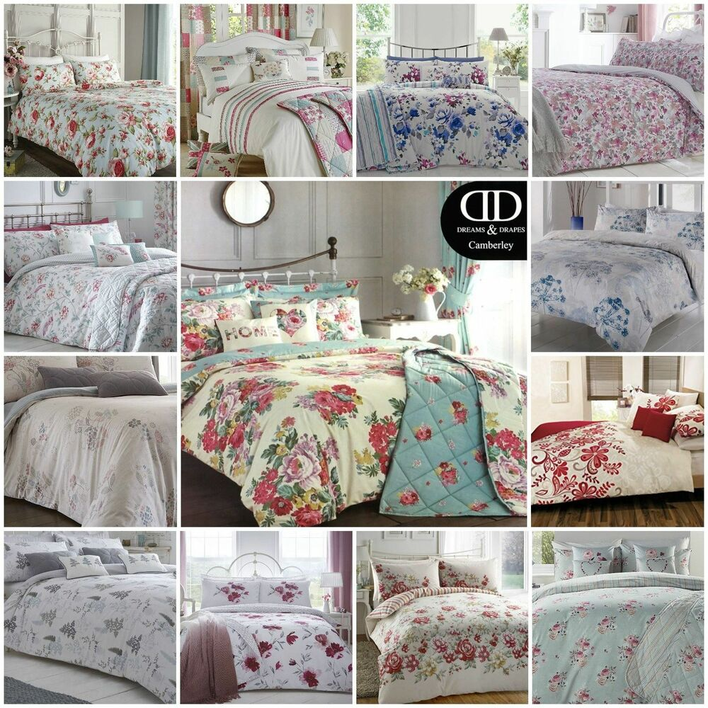 Was Ist Polycotton Bettwäsche Dreams Drapes Polycotton Floral Flowers Duvet Quilt Cover Bedding Bed Sets Ebay