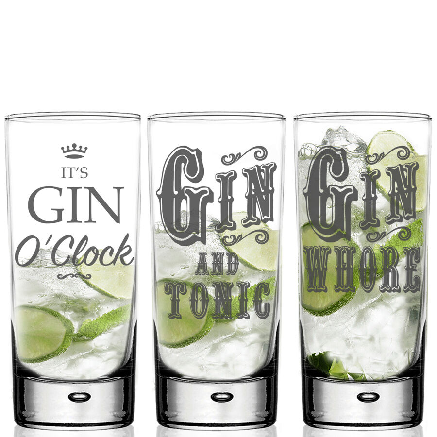 Mojito Glas Highball Gin Tonic Glass Personalised For G T Lovers Mixer Glass Gift Boxed Ebay