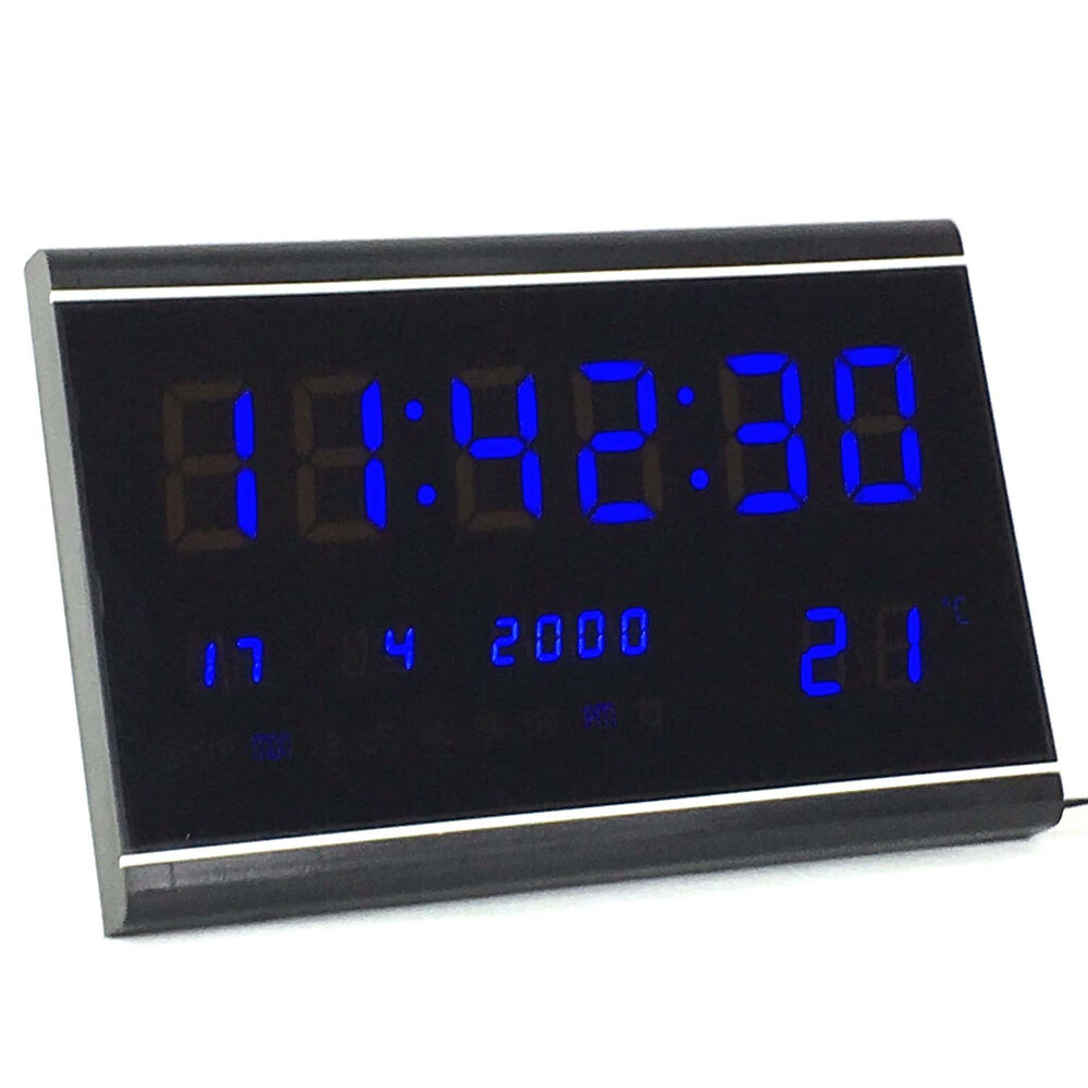 Wand Funkuhr Multi Led Digital Display Wanduhr Mit Datumanzeige Alarm