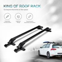 2x Universal Roof Rack Cross Bars Luggage Carrier + Rubber ...
