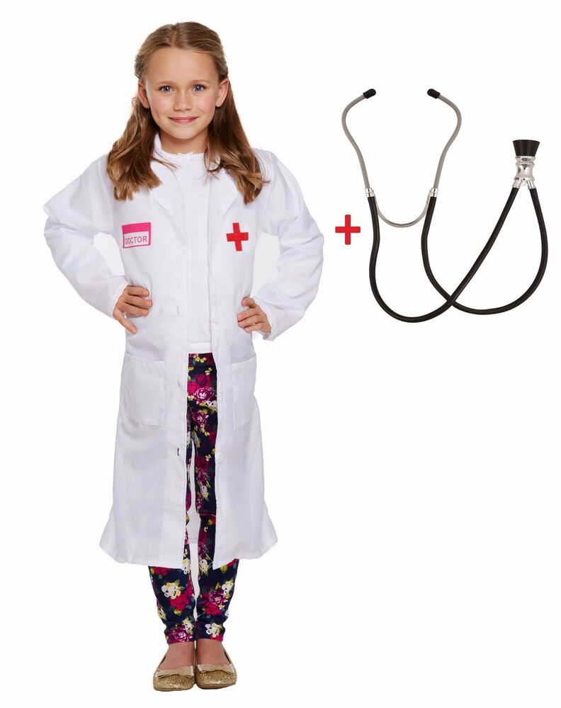 Arzt Kostüm Kinder Kids Doctor Costume Hospital White Coat Fancy Dress Childs