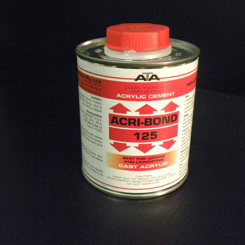 Abs Glue Acri Bond 125 Solvent Cement Adhesive Glue 500ml For Acrylic Hips Abs Pc Ebay