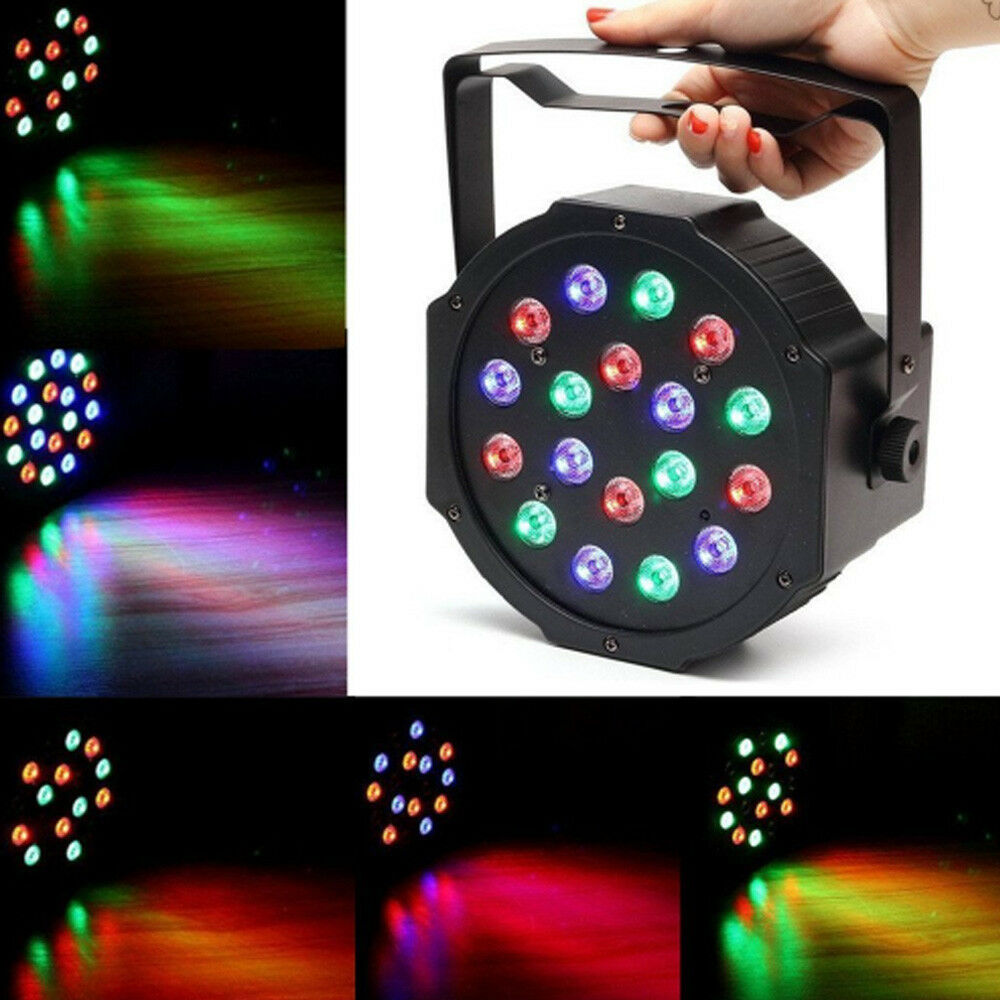 Lighting Rgb Dmx512 18 Led Par Light Rgb Stage Lighting Effect Disco Dj Xmas Party Lamp Ebay