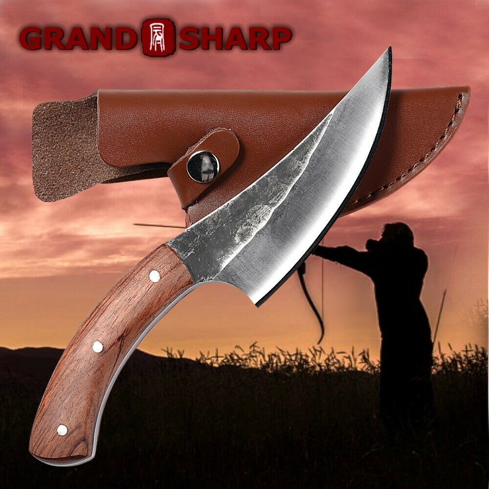 Stainless Steel Knife Fixed Blade Hunting Knife Stainless Steel Knives Outdoor Survival Camping Knife Ebay