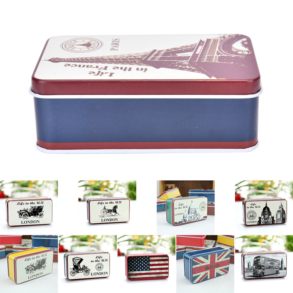 Stationary Boxes Uk Flag London Bus Stationery Iron Tin Storage Small Gift Jewelry Box Case Gy Ebay