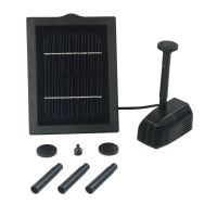 New 2W Outdoor Garden Solar Powered Submersible Water Pump