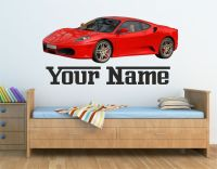 Personalised Ferrari Car Wall art sticker,decal, Graphic ...