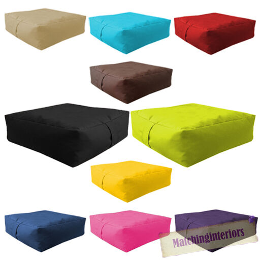 Coussin Exterieur 60x60 Waterproof Bean Bag Slab Outdoor Indoor Garden Cushion