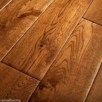 18mm x 125mm Hand Scraped Tobacco/Golden Oak Solid ...