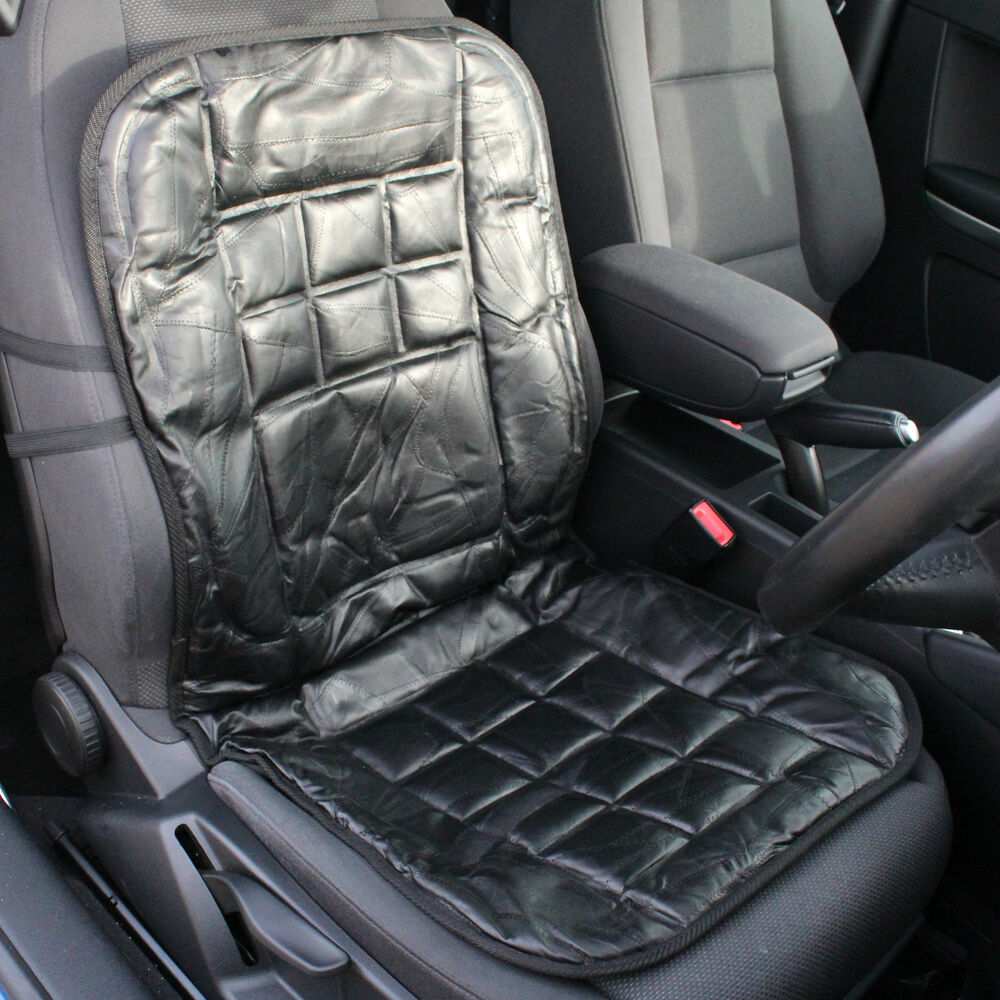 Protec Car Leather Car Front Seat Cushion/protector Orthopaedic Back