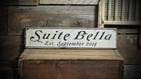 Custom Bedroom Suite Est Date Sign - Rustic Hand Made ...