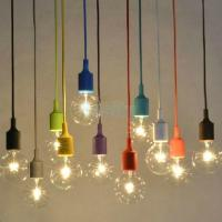 Silica Gel E27 Home Ceiling Pendant Lamp Light Bulb Holder ...