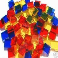 100 PARTY COLORS MOSAIC TILE STAINED GLASS TILE ART CRAFT ...